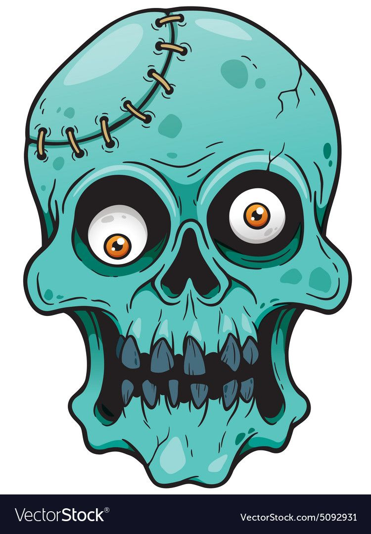 Vector Illustration Of Cartoon Zombie Face Download A Free Preview Or High Quality Adobe Illustrator Ai Zombie Face Zombie Illustration Adobe Illustrator Art