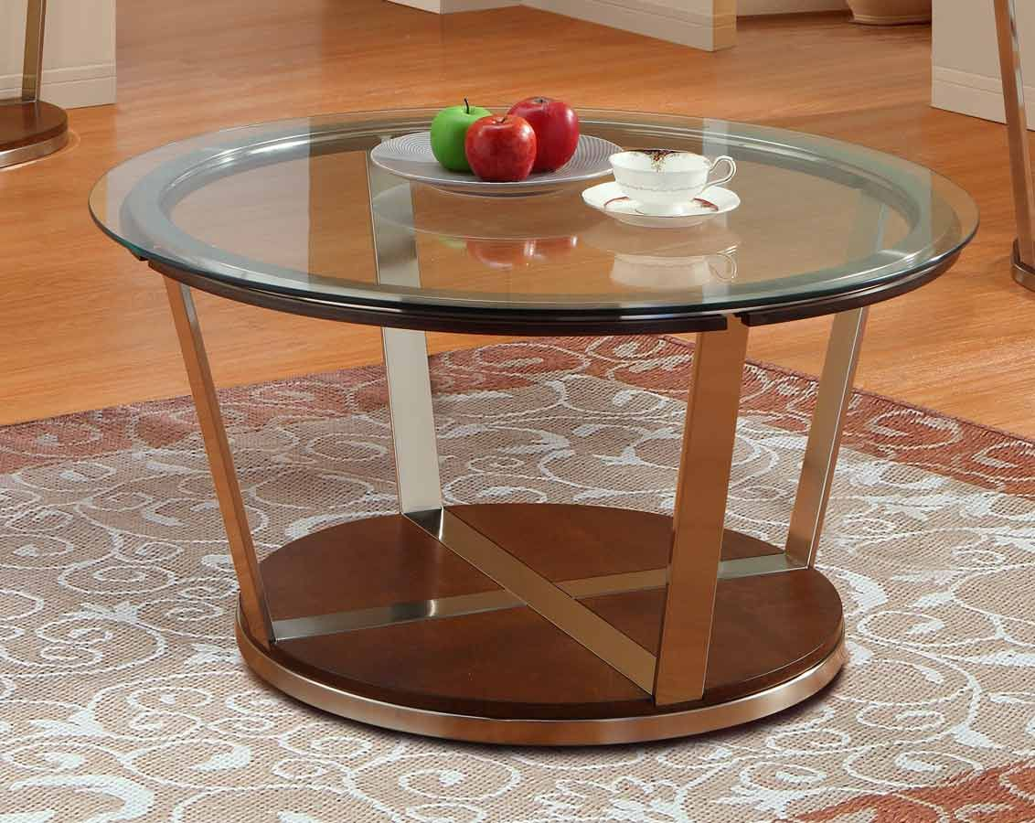 Dunham Round Cocktail Table   Homelegance