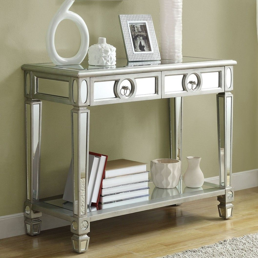 Ripley 2 Drawer Mirrored Console Table Mirrored Console Table Small Console Tables Console Table
