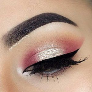 Pink and Champagne Eye Makeup Look