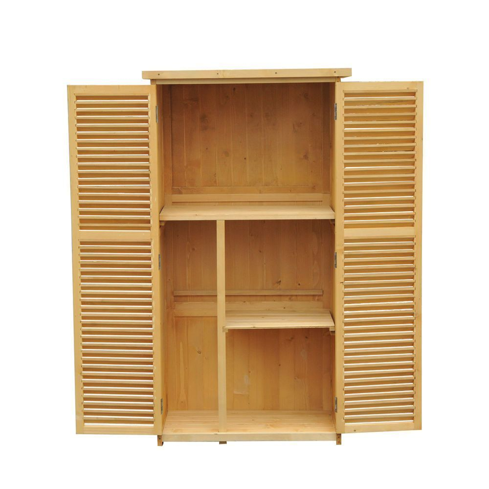 Outsunny Garden Shed Storage Tool Backyard Wooden Outdoor ...