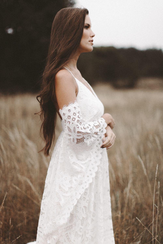Boho Brautkleid Vintage Hochzeitskleid Spitze