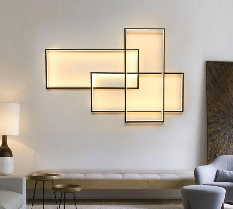 Flush Mount Fixture Smart Modern Led Ceiling Light In