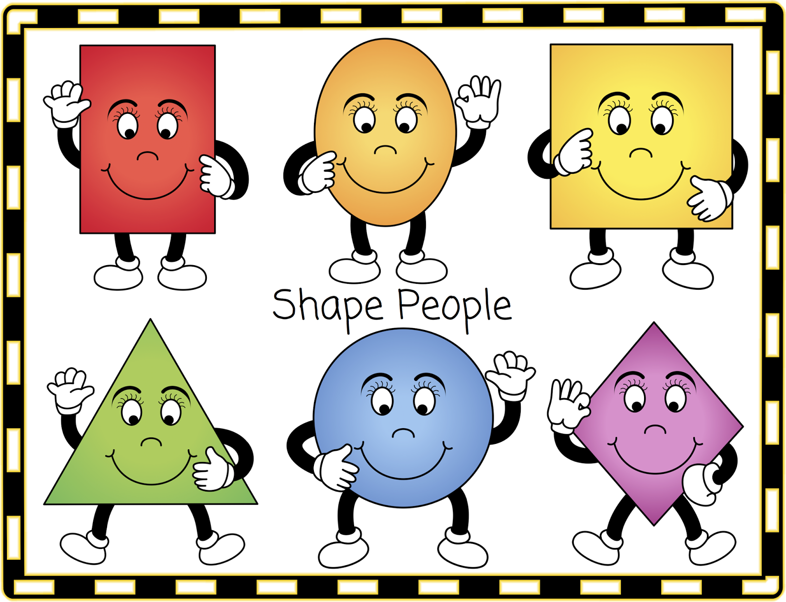 Free 2d Shape People For Your Classroom Displays Or Learning Activities Classroom Treasures