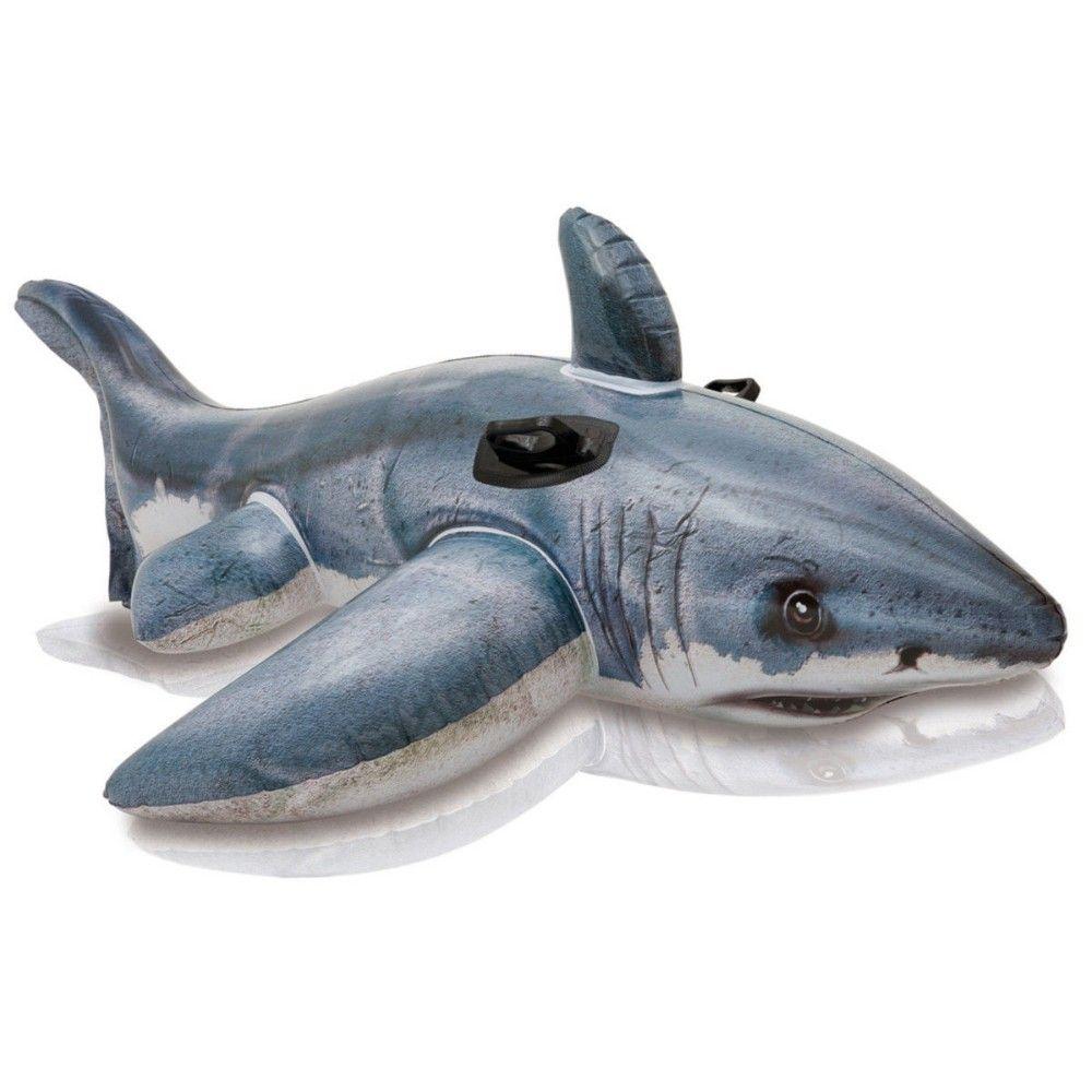 Flotador-inflable-Ride-On-tiburoacuten-blanco-juguete-piscina-para ...
