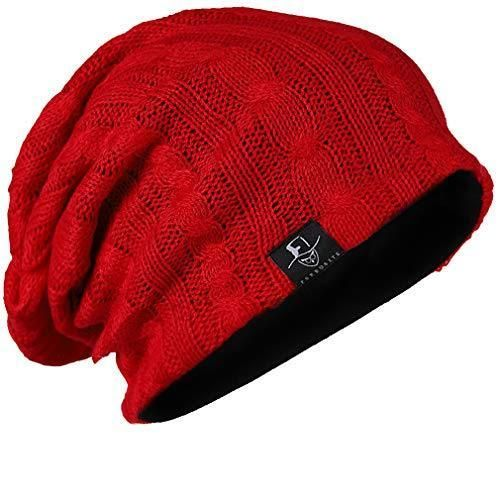 68642f531 FORBUSITE Mens Slouchy Long Oversized Beanie Knit Cap for Summer ...