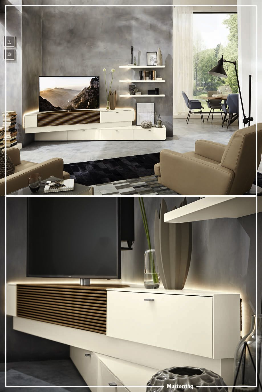 musterring media corner wohnzimmer living room. Black Bedroom Furniture Sets. Home Design Ideas