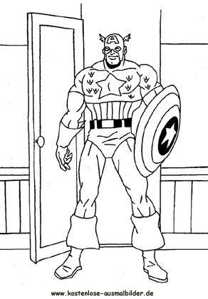 Captain America Ausmalbilder Boyama Sayfaları Ausmalbilder