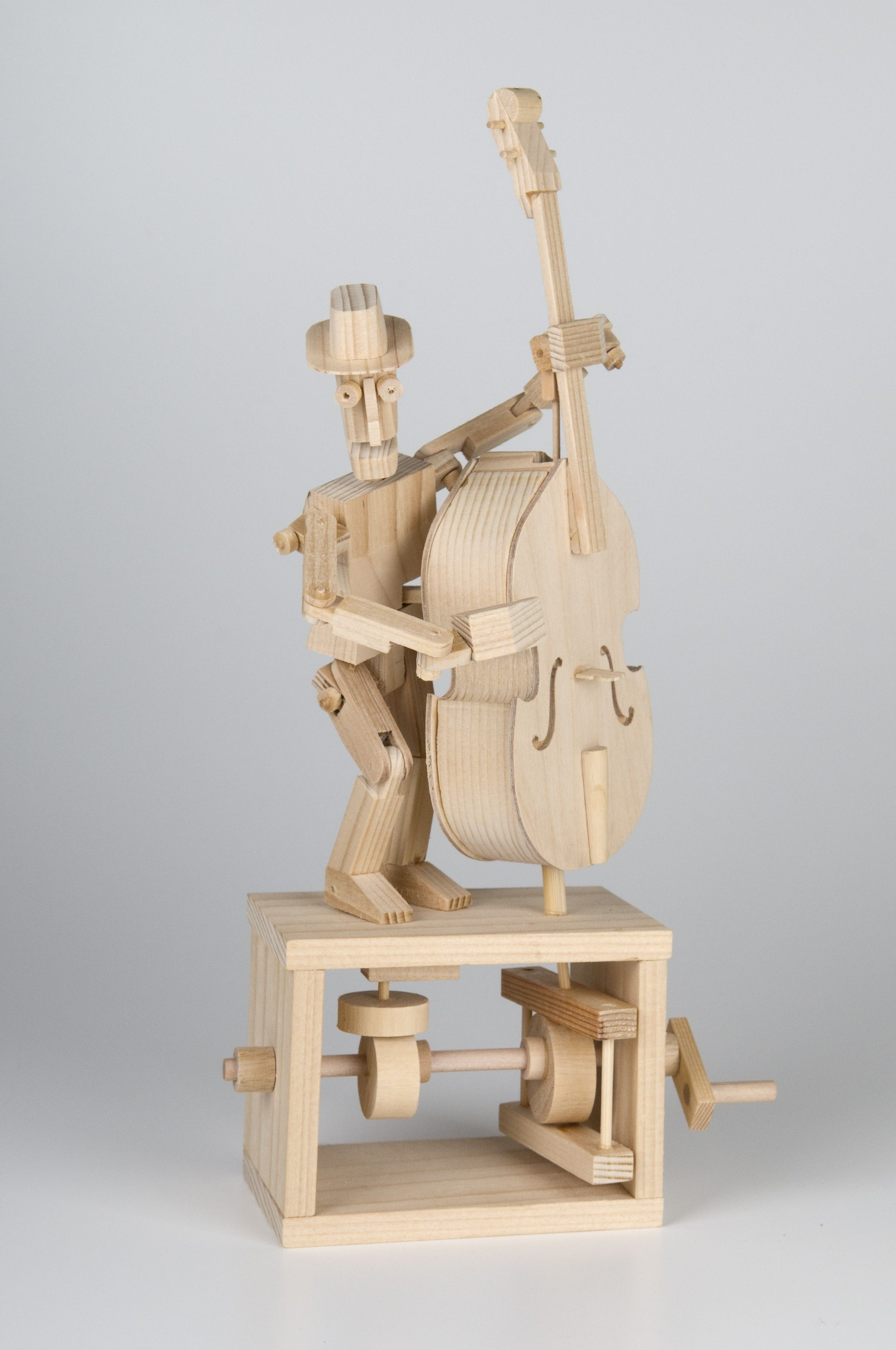 Timberkits Double Bass Kit Wooden Moving Model Self Assembly Construction Gift