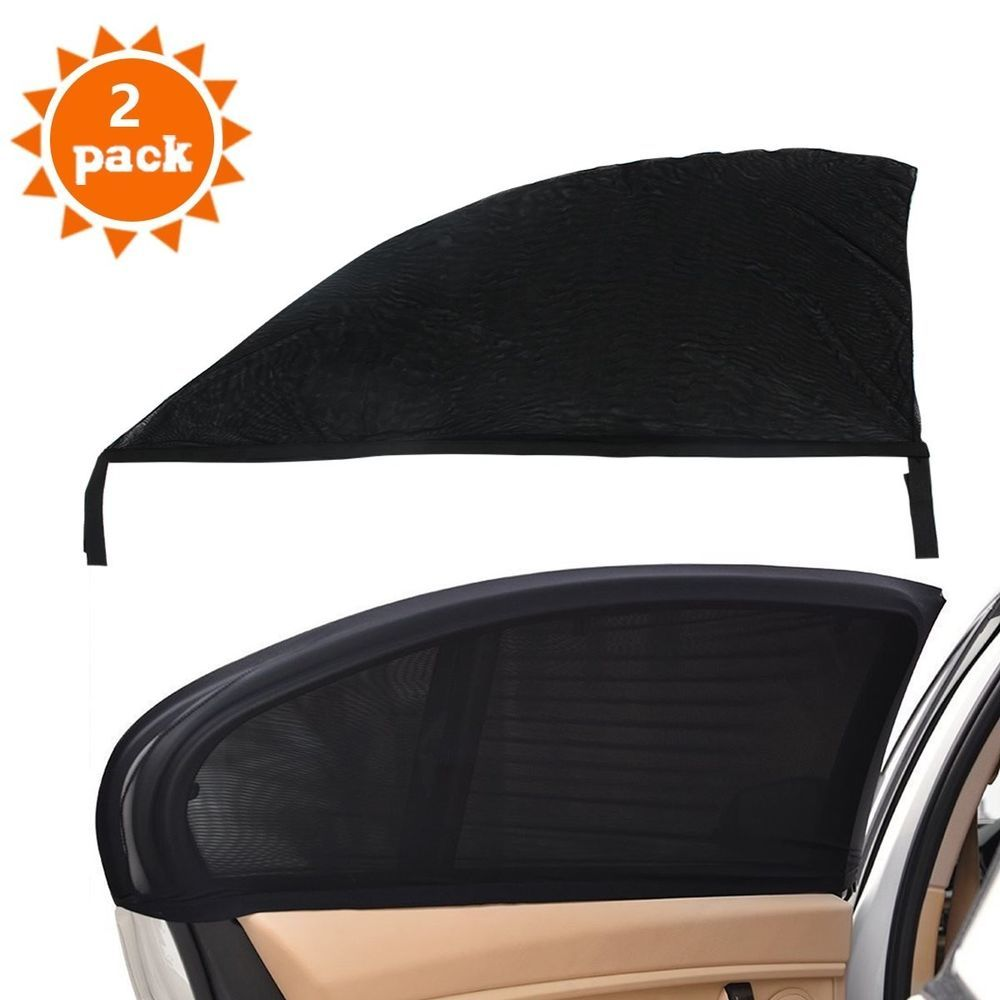 2pcs Car UV Side Rear Window Sun Visor Shade Mesh Cover Shield Sunshade  Protect  Unbranded c693cebc952