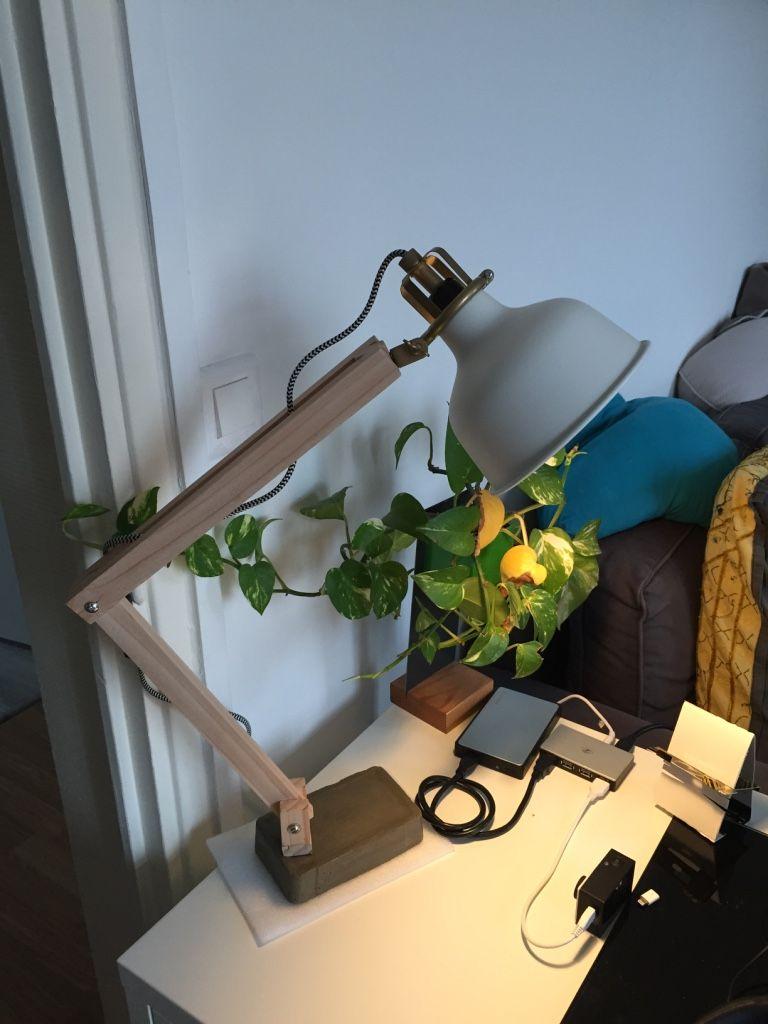 Ikea Ranarp Wood Industrial Desk Lamp Lampe Ikea Ikea Et Lampe Industrielle