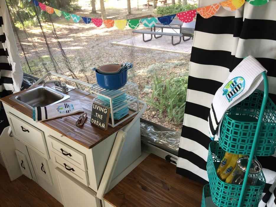 pop up popup kitchenette remodel   pop up camper   Pinterest