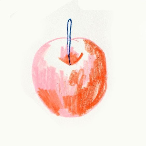 003 Pin by zhaowei on 画画 in 2019 Apple illustration