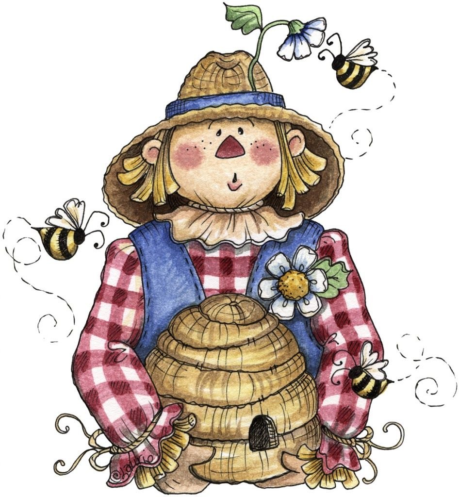 Scarecrows with Bees