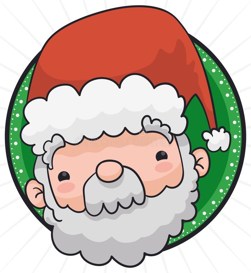 35+ Cute Circle Santa Clipart