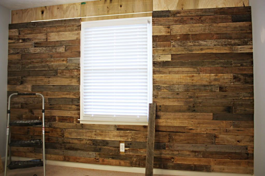pallet wall DIY steps. could i do this? and which room?