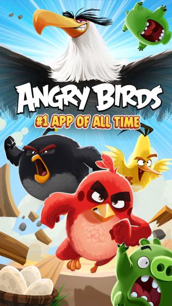 Angry Birds v6.1.2 [Mod PowerUps/All Unlocked/AdFree] Apk