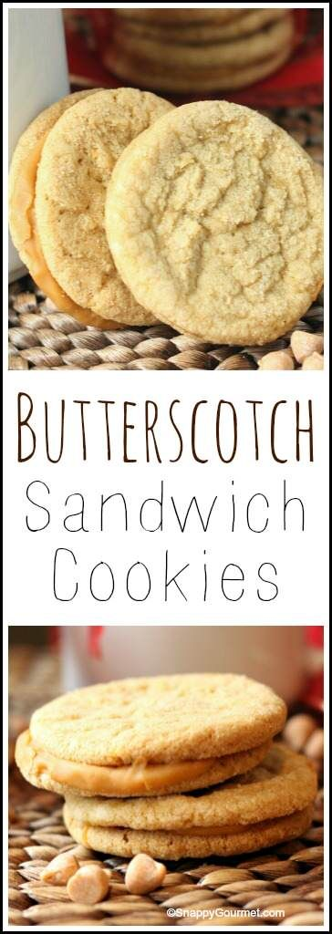 Butterscotch Sandwich Cookies recipe - easy homemade holiday and