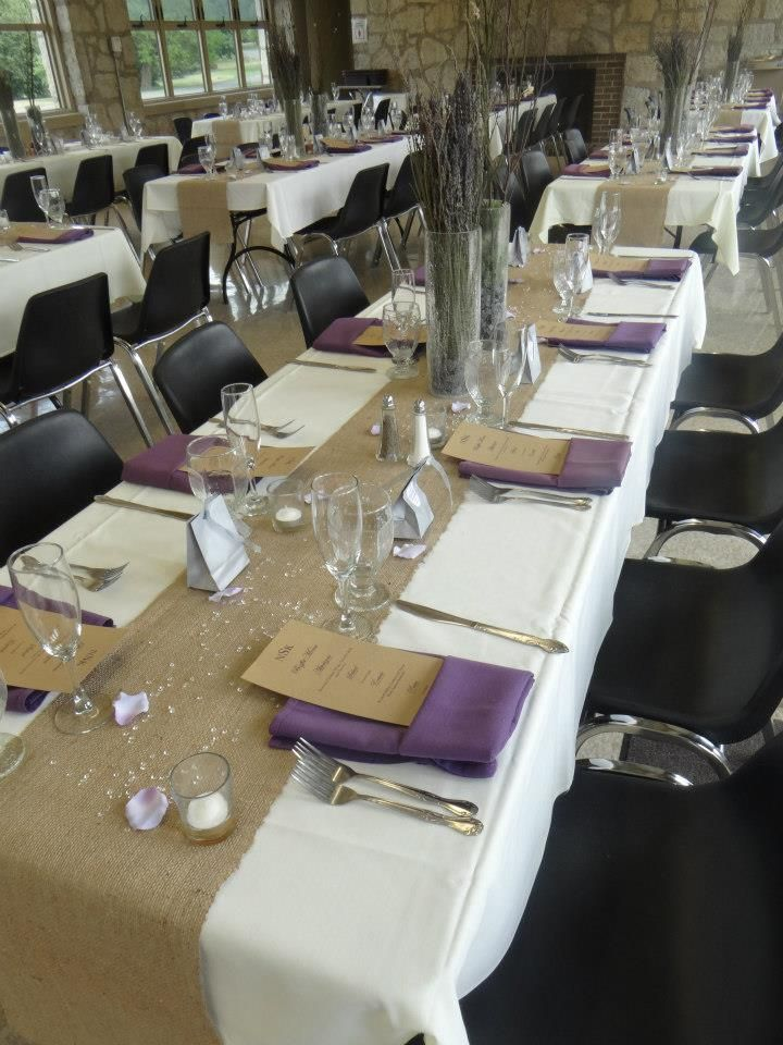 Long Table Setup at Wolfe Park Shelter House & Long Table Setup at Wolfe Park Shelter House | The Berwick-Table ...