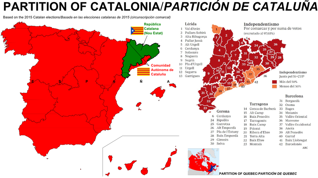Map Of Spain Catalonia.The Partition Of Catalonia Spain Gazetteer Gallery Map Of Spain