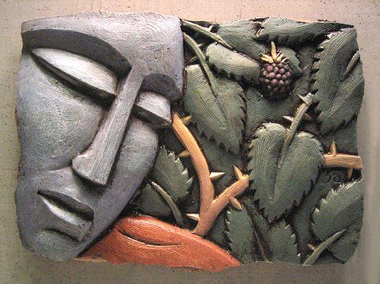 Wall Sculpture Art fig 3asteve gardner (ceramic wall sculpture | ceramic wall art
