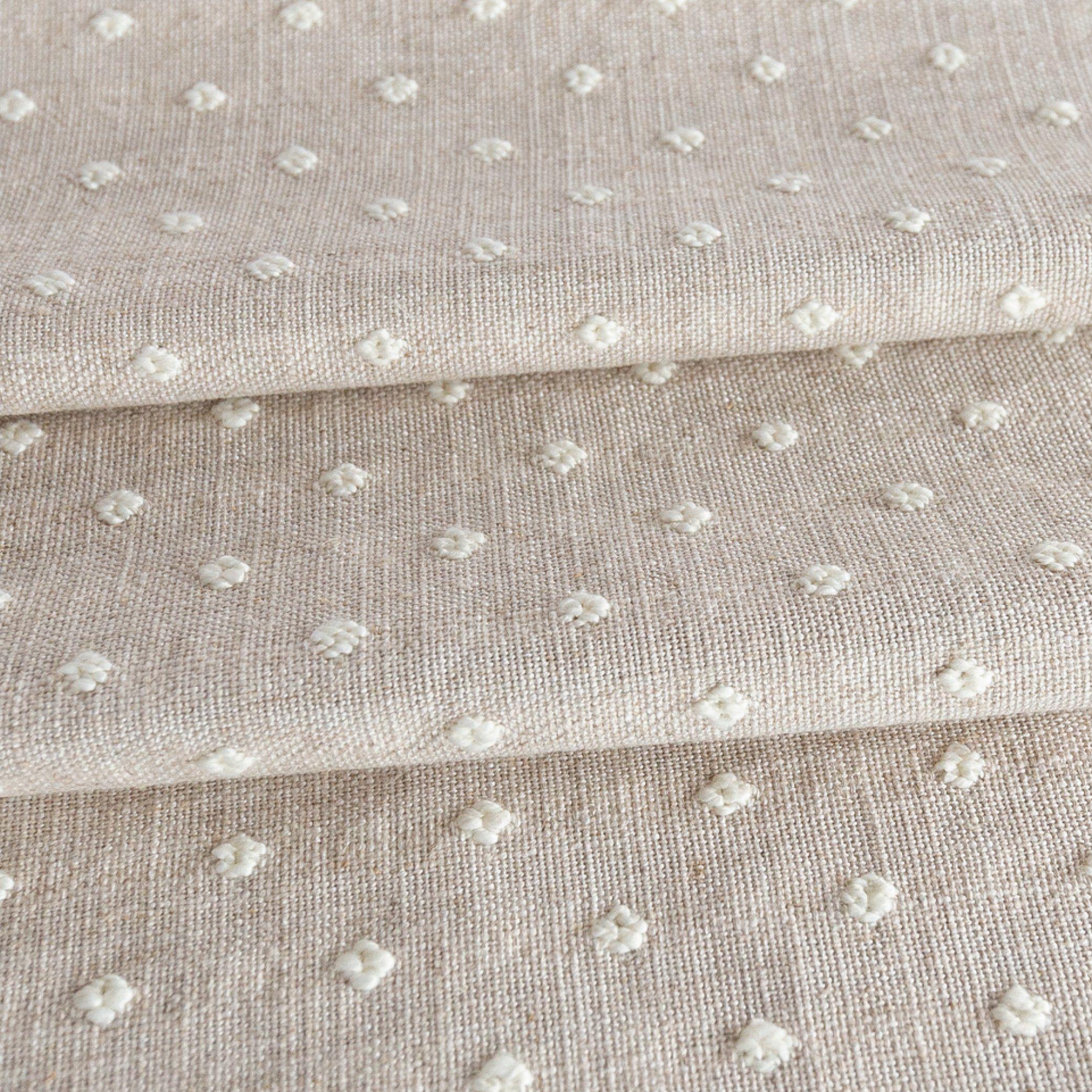 Mila Dot Fabric Flax Tonic Living Curtain Fabric Patterns Fabric Decor Coastal Fabric