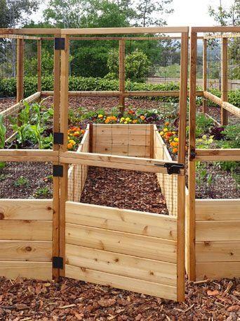 OLT 8' Raised Cedar Garden Bed with Deer Fence - Modern ...