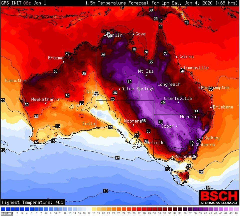 Australia fires map Where are the bushfires in Australia