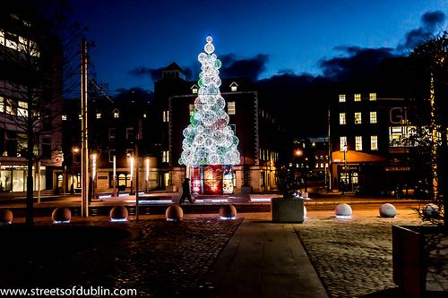 Smithfield at Night - The Glass Christmas Tree