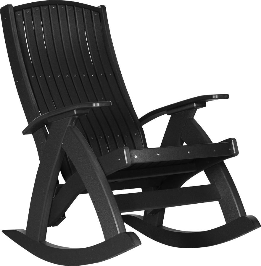 Magnificent Luxcraft Recycled Plastic Comfort Porch Rocking Chair Ibusinesslaw Wood Chair Design Ideas Ibusinesslaworg