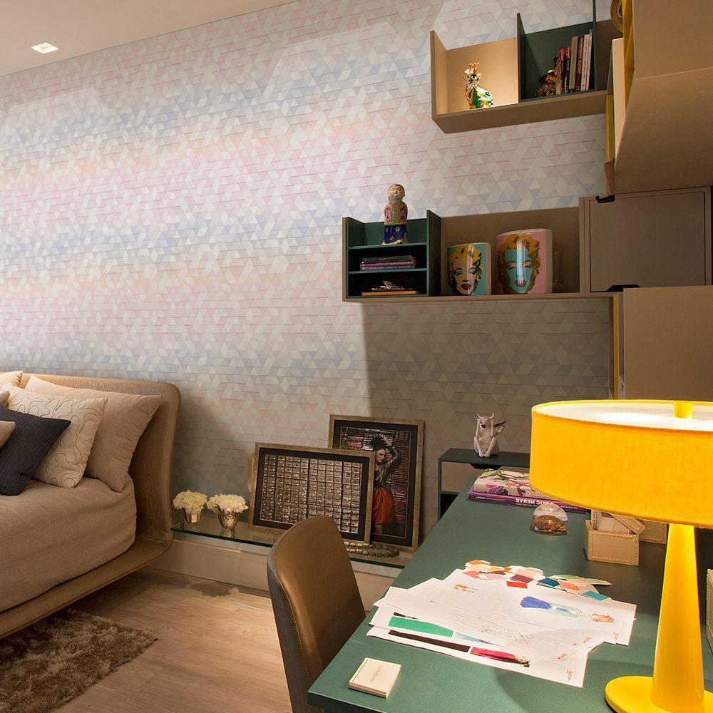 Compre Papel de Parede Geométrico, lindos modelos para decorar os mais variados ambientes. Aproveite a promoção de Frete Grátis para todo Brasil.