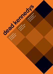 Dead Kennedy's in a swiss minimalist style