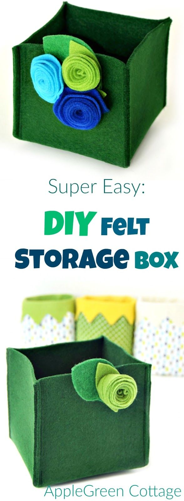 Quick Diy Storage Box - Super Easy! - AppleGreen Cottage
