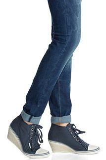 Wedges i sneakerstil