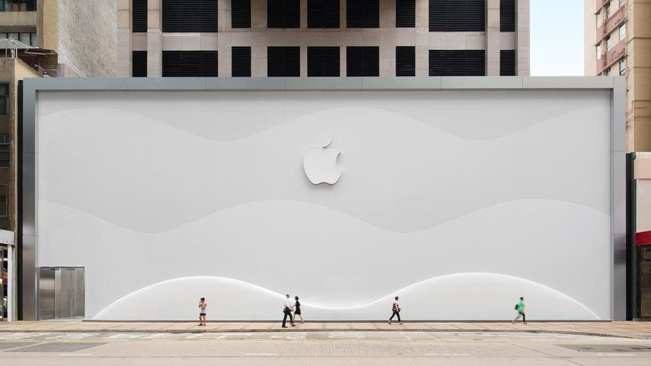 Apple Is Hiding Its Newest Hong Kong Store Behind This Gorgeous Barricade Store Architecture Box Architecture Architecture Design