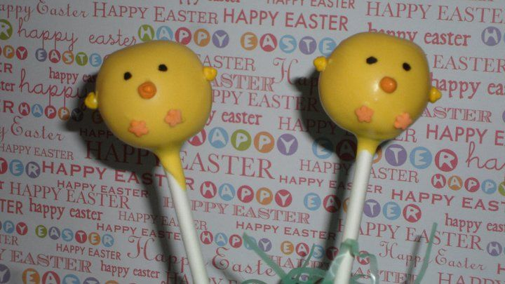 Easter Chick Cake Pops-Hop Onto Cupcakes