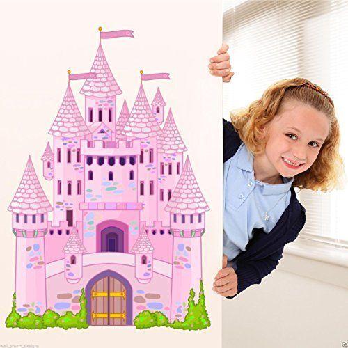 Calcoman a pegatina mural con dise o de castillo de cuento for Pegatinas habitacion nina