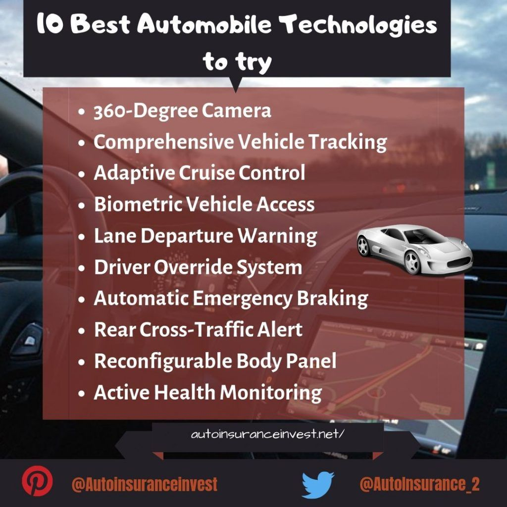 10 Best Automobile Technologies To Try Out In 2019 Automobile Technology Technology Automobile