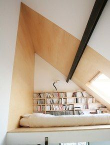 Quiet  is  very necessary for study,So  set up the studyroom in the attic is a good choice.
