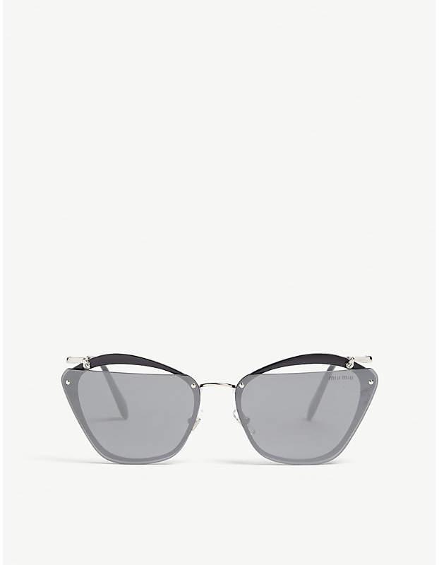 c8bd3c408a0b Miu Miu Mu54Ts irregular-frame sunglasses