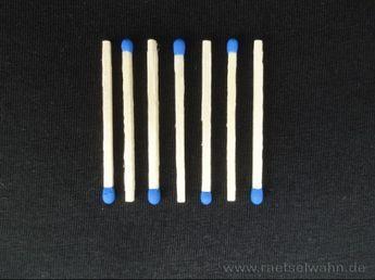 Streichholzrätsel Mit Lösungen
