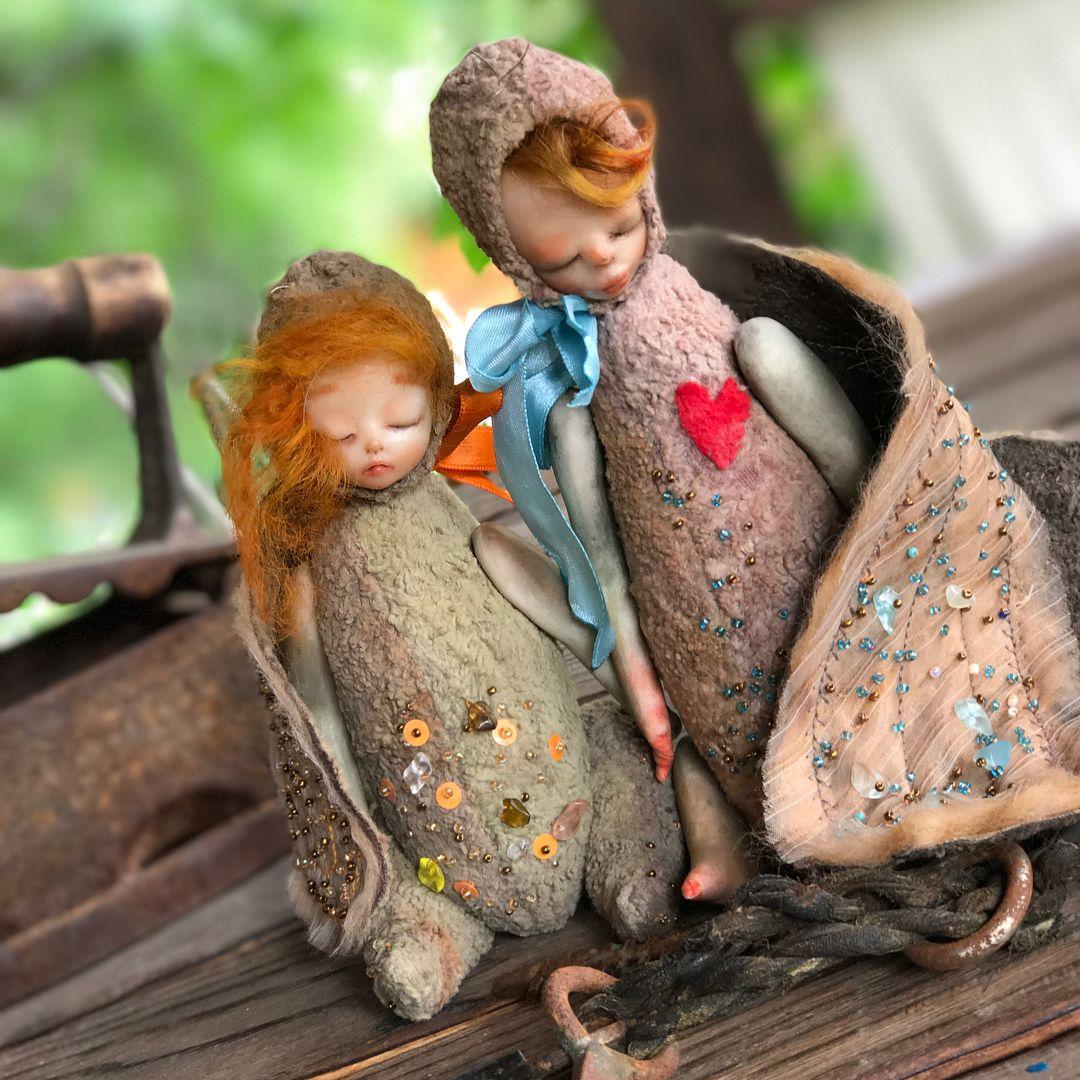195 отметок «Нравится», 21 комментариев — Жанна Арефьева Авторская Кукла (@ganna_arefeva) в Instagram: «Муха и Комарик ( хотя может и сверчок )❤️❤️они однозначно пара разлучать не буду , пусть любят…»