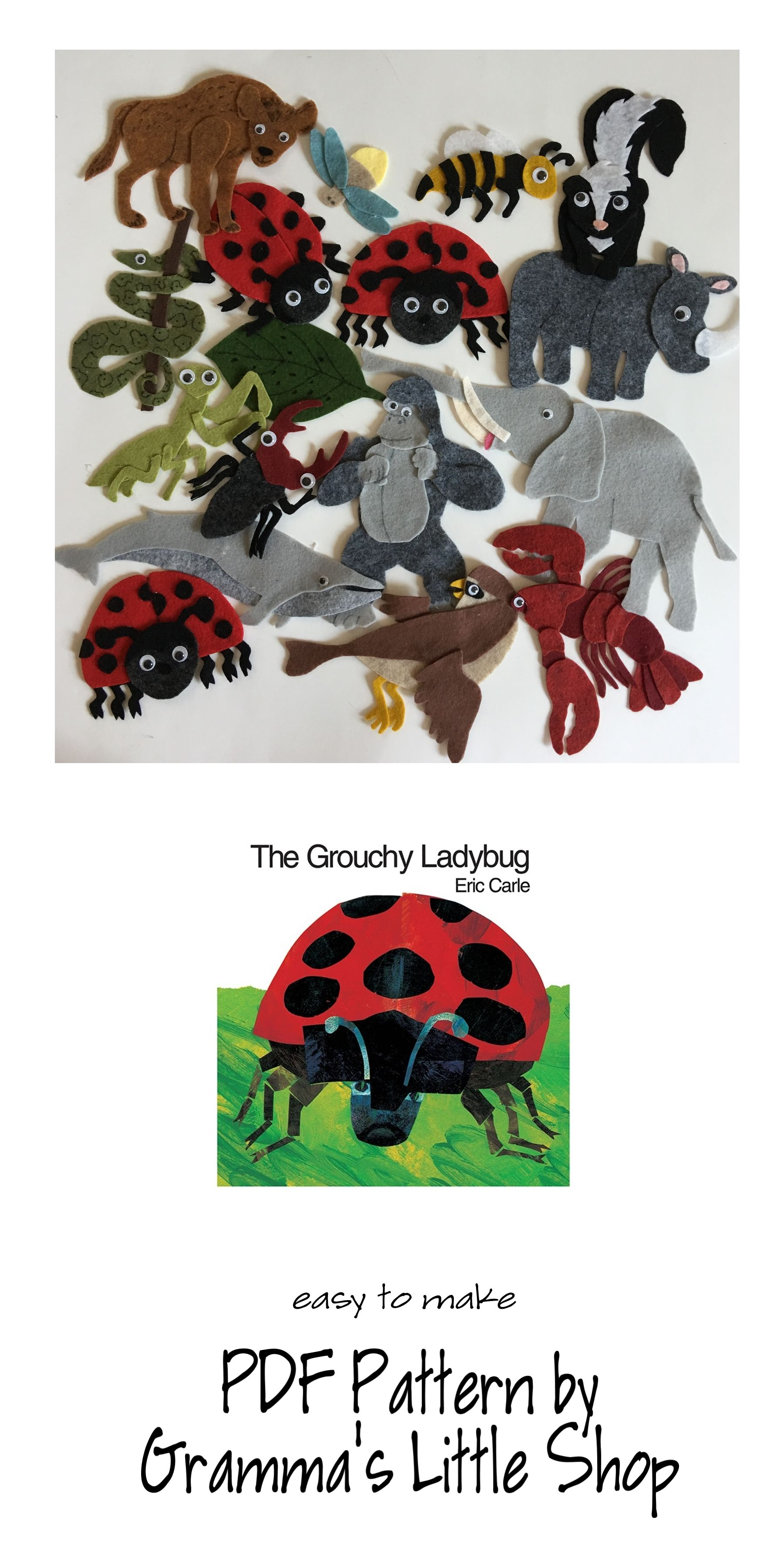 Grouchy Ladybug Pattern For Felt Story Board Includes Pattern For Clock Teaching In The Home Grouchy Ladybug Felt Story Grouchy Ladybug Activities