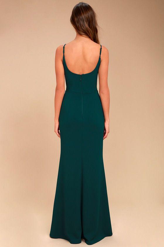 97d6f0784b Infinite Glory Forest Green Maxi Dress 4