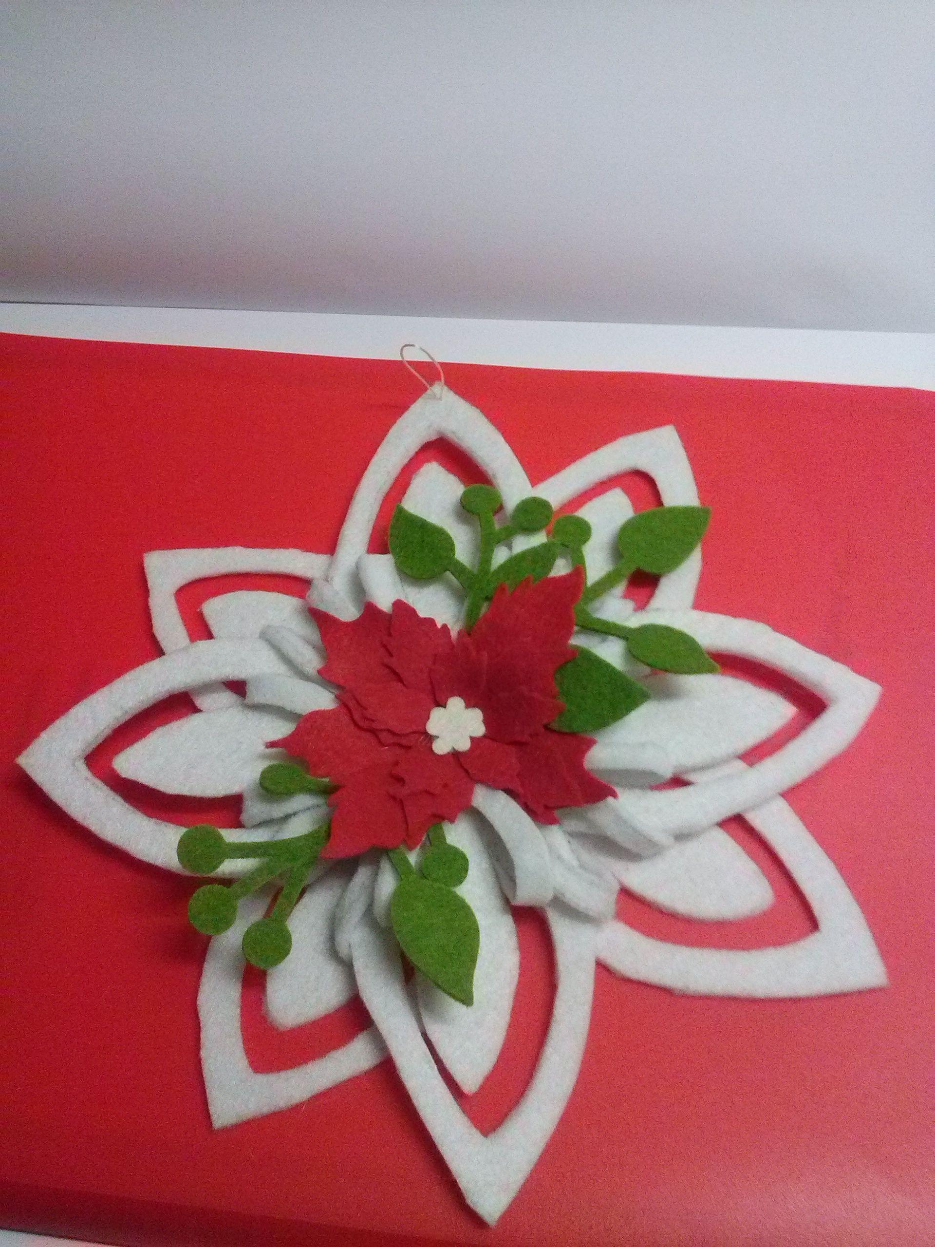 Stella Di Natale Big Shot.Stella Di Natale In Feltro Vianoce Christmas Cards Christmas