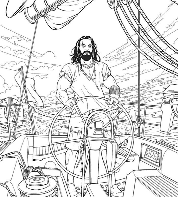 Jason Momoa Coloring Book For Stress Relief Coloring Books