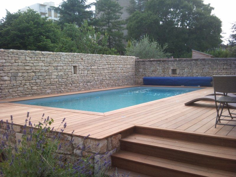 Piscine bois composite semi enterree 28 images le tas - Terrasse piscine semi enterree ...