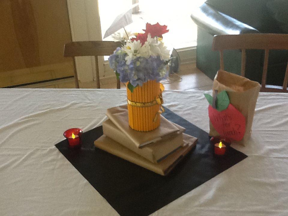 Centerpiece -- teacher's retirement party | Teacher retirement ...