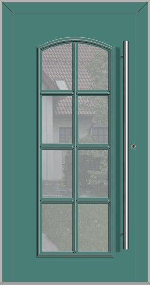 LIM RAPSODIA-T – classic aluminum front door with glass