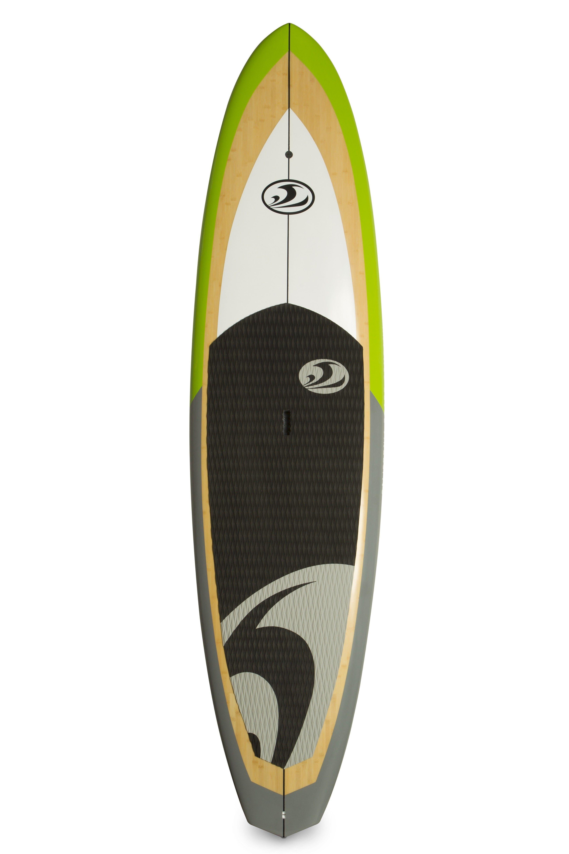 California Board Company 10 Bamboo Veneer Epoxy Fiberglass Stand Up Paddleboard Package Standup Paddle Surfboard
